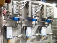 2 K Anlage mit 3 Lacken 1 Härter, Coriolis System
