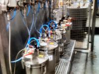 Lackversorgung 2 K Anlage mit Membranpumpen